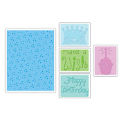 Embossing Folders 5PK - Birthday Set #2