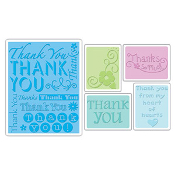 Embossing Folders 5PK - Thank You Set #2