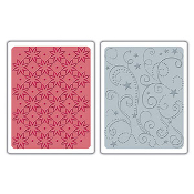 Embossing Folders 2PK - Flowers, Stars & Swirls Set
