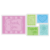 Embossing Folders 5PK - Thank You Set #3