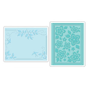 Embossing Folders 2PK - Birds, Flowers & Branches Set