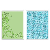 Embossing Folders 2PK - Flowers & Flourish Set