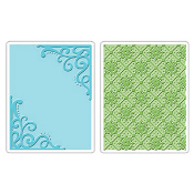 Embossing Folders 2PK - Corners & Lattice Set