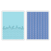 Embossing Folders 2PK - Flourish, Dots & Ribbon Set