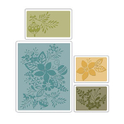 Embossing Folders 4PK - Winter Botanicals Set