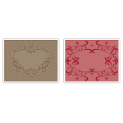 Embossing Folders 2PK - Heart & Ornate Frames Set