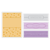 Embossing Folders 4PK - Birthday, Congrats & Thanks Set