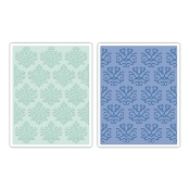 Embossing Folders 2PK - Classical Beauty & Baroque Wallpaper Set