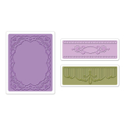 Embossing Folders 3PK - Oval Lace Set