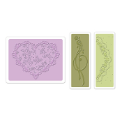 Embossing Folders 3PK - Scallop Heart Doily Set