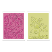 Embossing Folders 2PK - Groovy Flowers Set