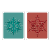 Embossing Folders 2PK - Snowflakes Set