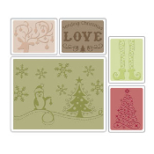 Embossing Folders 5PK - Sending Christmas Love Set