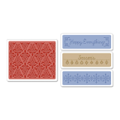 Embossing Folders 4PK - Holiday Damask Set