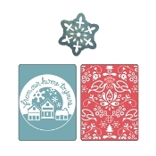 Embossing Folders/Bonus Sizzlits Die - From Our Home & Yule Set
