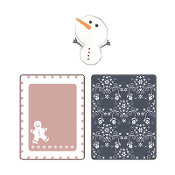 Emboss Folders & Sizzlits Die - Gingerbread Man & Flowers Set