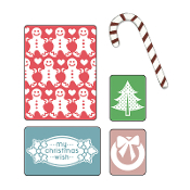 Embossing Folders w/Bonus Sizzlits Die - My Christmas Wish Set