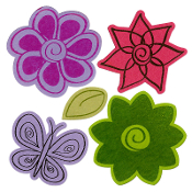 Framelits Die Set 5PK w/Stamps - Flowers #4