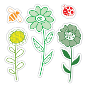 Framelits Die Set 5PK w/Stamps - Garden Flowers Set