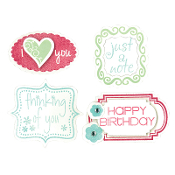 Framelits Die Set 8PK w/Stamps - Birthday & Frames