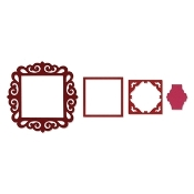 Framelits Die Set 4PK - Frame, Fancy Square