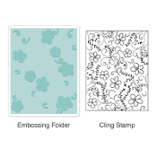 Embossing Folder w/Stamp - Flowers & Vines Set