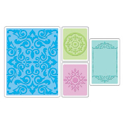 Embossing Folders 4PK - Medallions, Frame & Damask Set