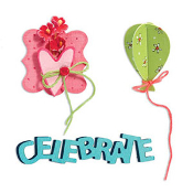 Sizzlits Die Set 3PK - Celebrate Set