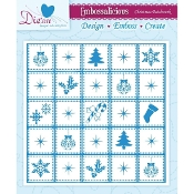 Embossalicious Embossing Folder-Christmas Patchwork