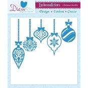 Embossalicious Embossing Folder-Christmas Baubles