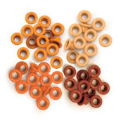 Eyelets (Orange) Standard size (60 pieces)