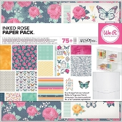 Scrapbook Paper Pack - Inked Rose