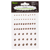 Adhesive Pearls - Brown - Assorted Sizes - 58 pieces