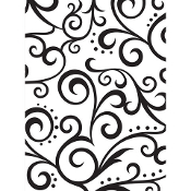 Embossing Folder - Scroll Background - 4.25 x 5.75