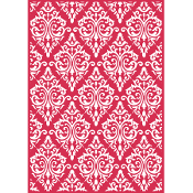 CRAFTWELL - Beautiful Brocade -  Embossing Folders (Letter Size)