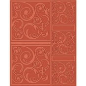 CRAFTWELL - Swirltangle -  Embossing Folders (Letter Size)
