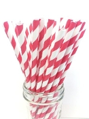 RED STR -JUMBO STRAW 7.75""