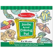 ANIMAL    -JUMBO COLORING PAD