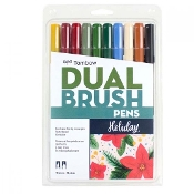 Dual Brush Pen Art Markers, 10-Pack